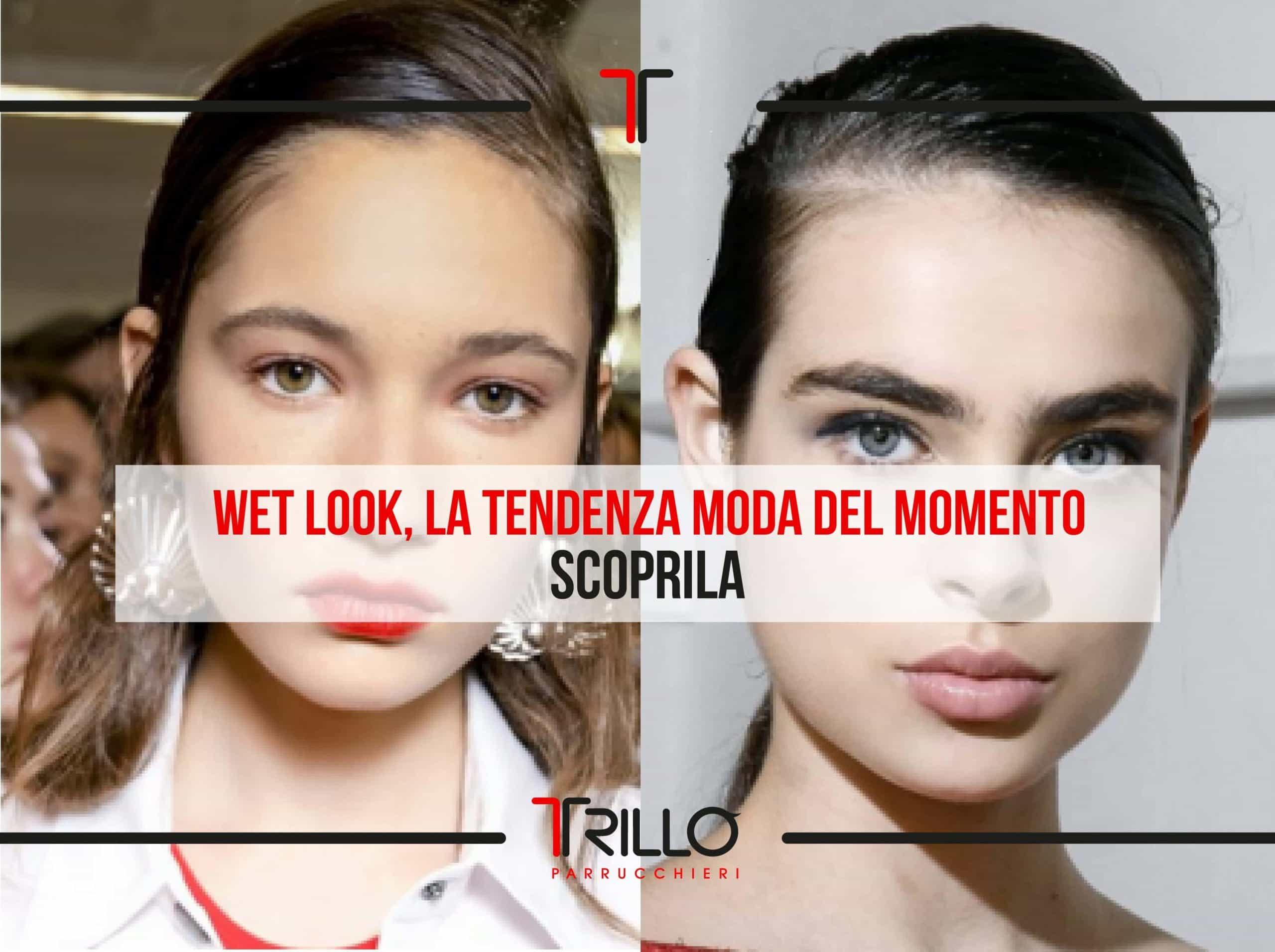 Wet look, effetto bagnato la tendenza moda del momento